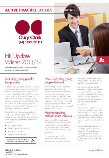 Active Practice Update - HR Update - Winter 2013/14
