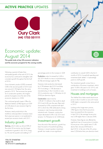 Active Practice Update - Economic update August