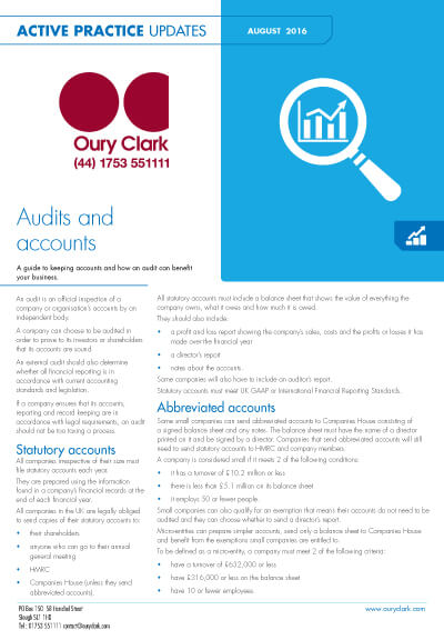 Audits and accounts
