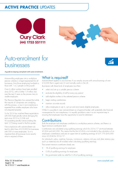 Auto-enrolment for businesses