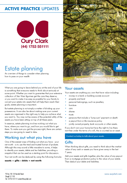 Actice Practice Updates - Estate planning