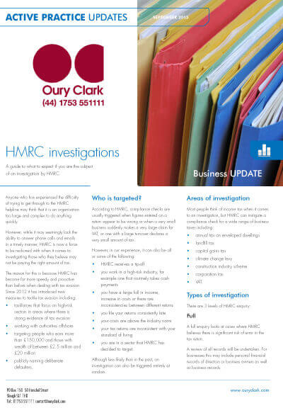 Active Practice Update - HMRC investigations