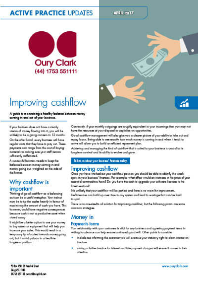Improving cashflow