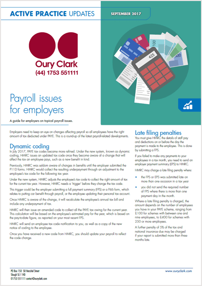 Payroll issues for employers
