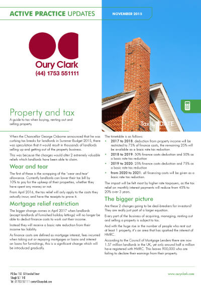 Active Practice Update - Property and tax