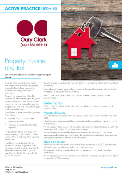 Property income and tax