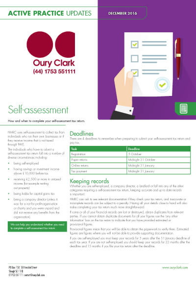 Active Practice Update - Self-assessment: an introduction