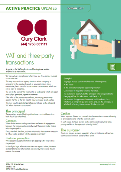 VAT and three-party transactions